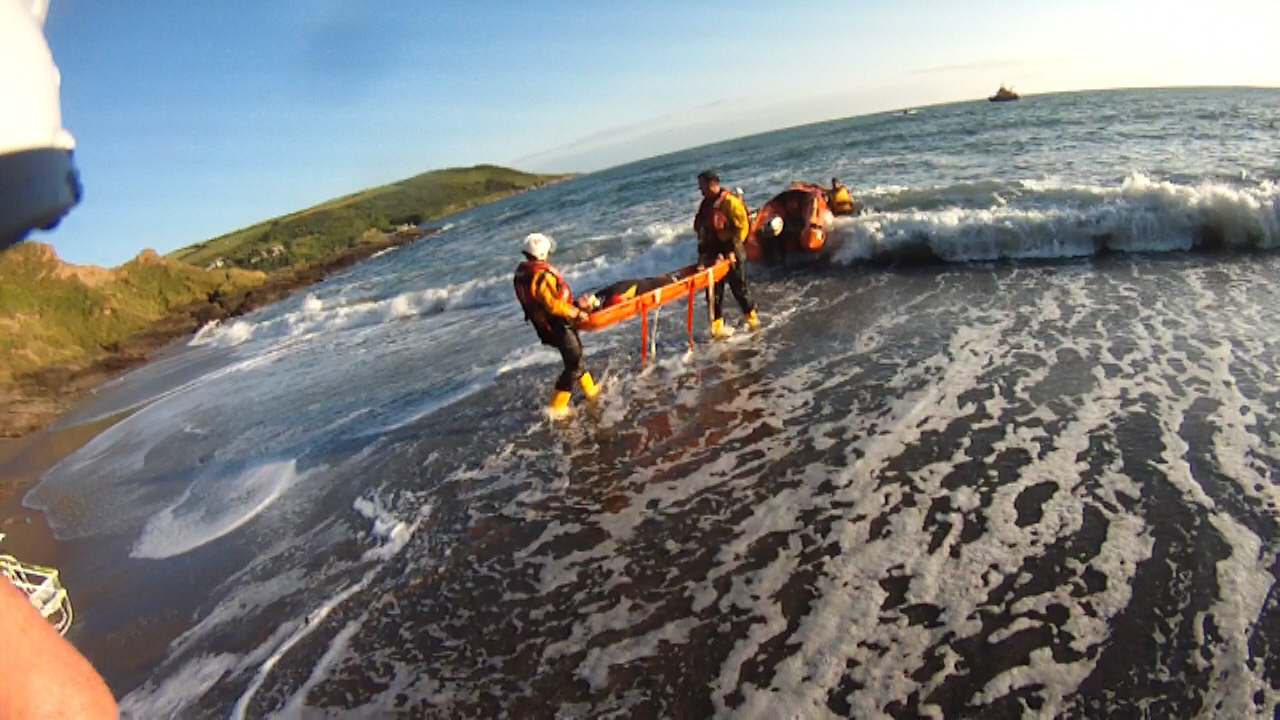 Exercise with Looe Lifeboat and Lifeguards
